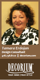 Tamara Erdojan Design Consultant Decorium Furniture