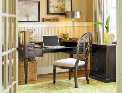 green-theme-home-office