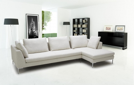 Carolin Sectional SKU 901971 in Linen Style Fabric_447