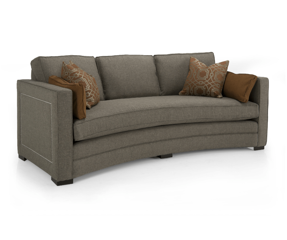 lauren fabric curved loveseat  decorium furniture - lauren fabric curved loveseat
