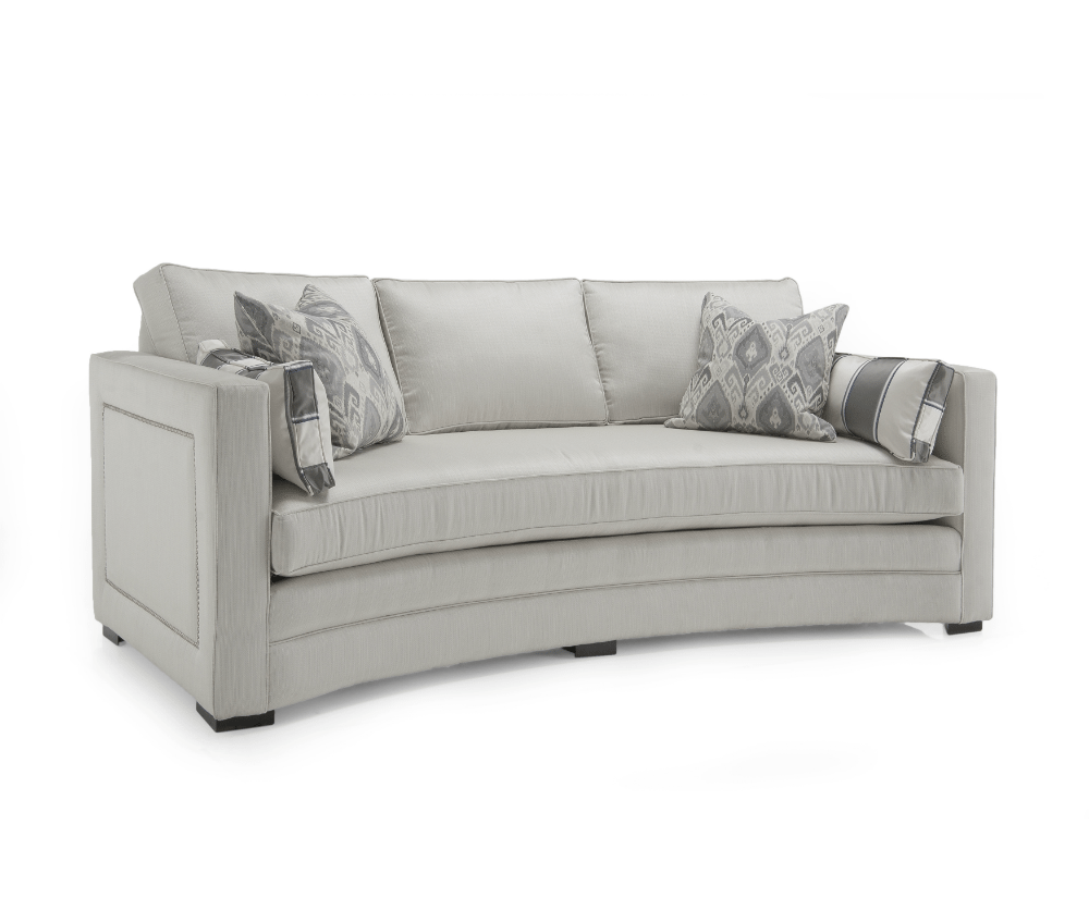 Lauren Fabric Curved Love Seat Decorium Furniture