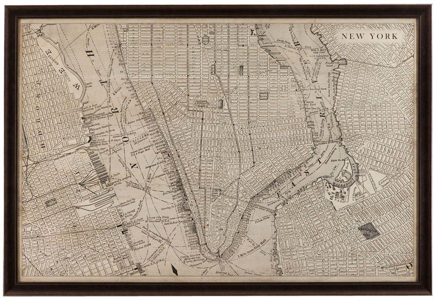 Decroium-Products-Vintage-Map-of-New-York---Artwork