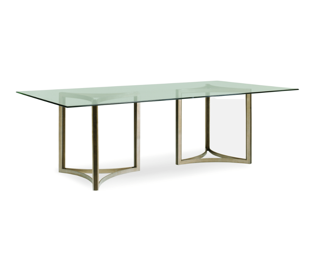 mill street double pedestal dining table home dining dining tables