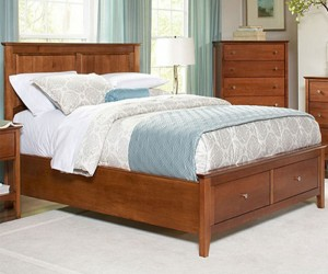 Auspice Queen Panel Bed with Storage Footboard