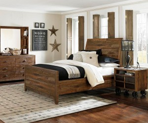 Corben Twin Panel Bed with Two Storage Rails