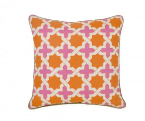 Anika Orange Cross Accent Pillow