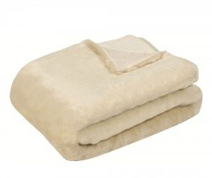 White Mink Accent Throw