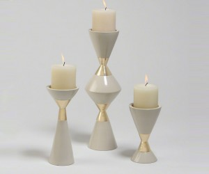 Hourglass Candle Holders