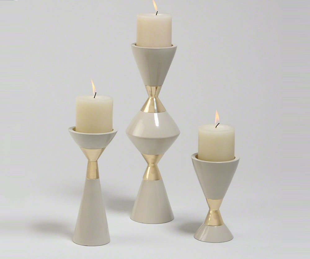 Hourglass Candle Holders Decorium Furniture