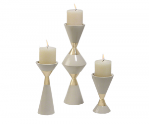 Hour Glass Candle Holder 61593 silo