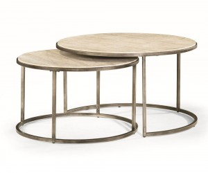 Quasar Set of Two Rnd Cocktail Nesting Tables