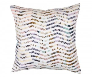 Textured Hue Spatial Distortion Accent Pillow