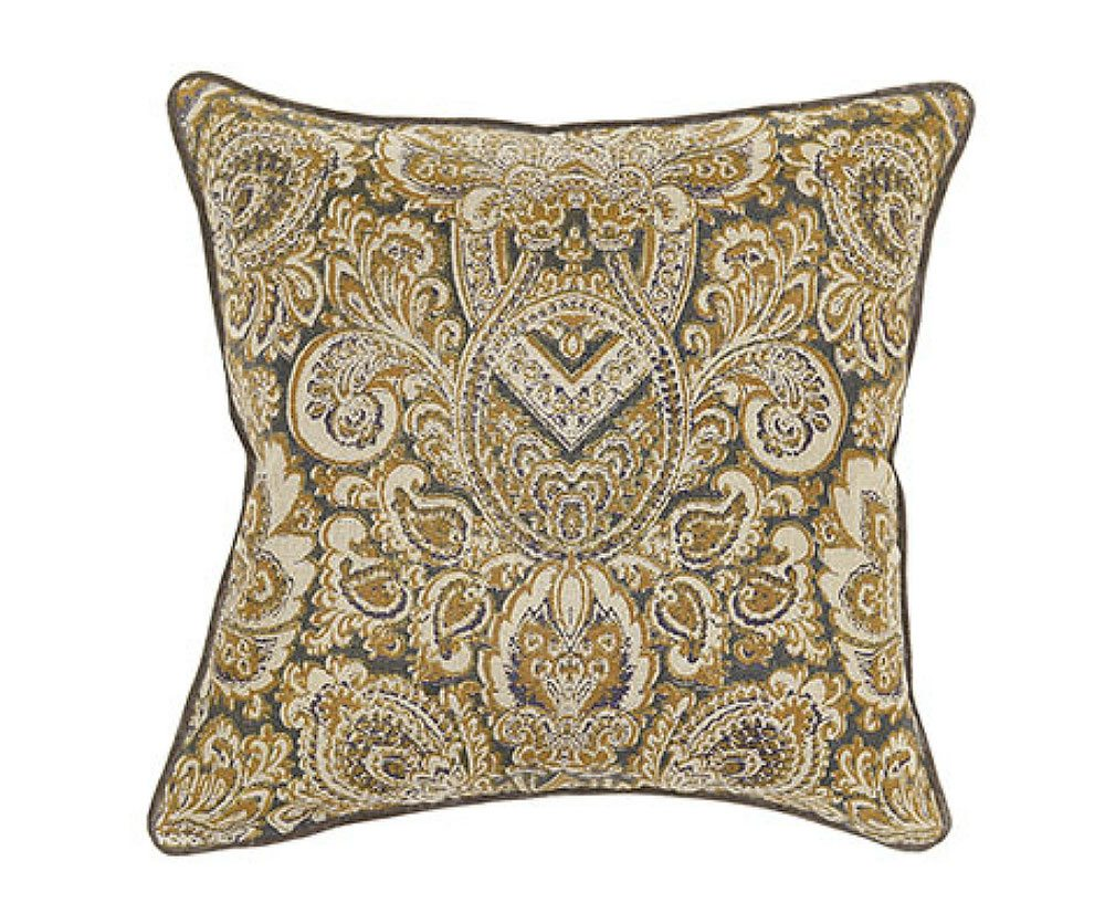 Textured Hue Turkish Gold Accent Pillow