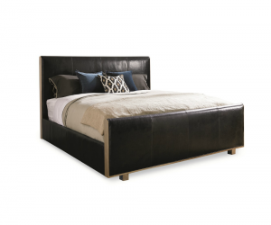 Mill Street Leather King Panel Bed