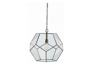 Glass Faceted Pendant Lamp