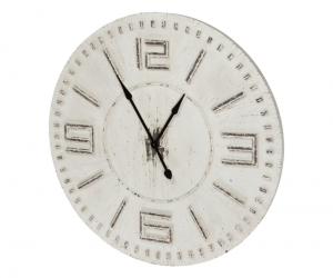 Antiqued Wall Clock 66801 Silo