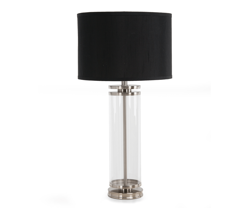 Metal and Glass Table Lamp 66164 Silo