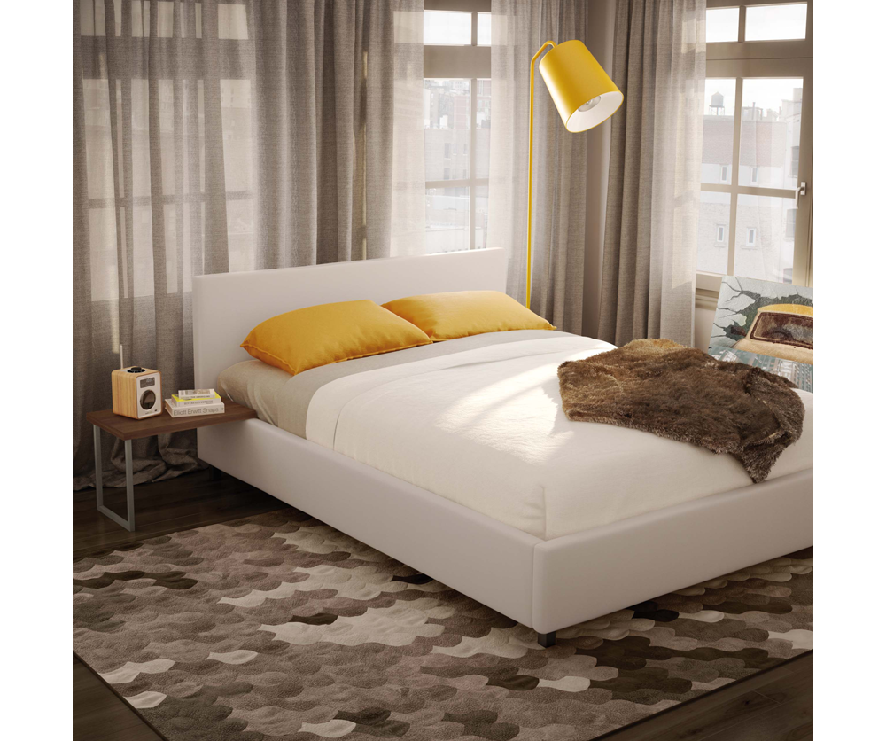 Jackson Queen Upholstered Bed With Bunky Board Decorium