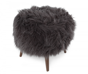 Cube Ottoman Charcoal