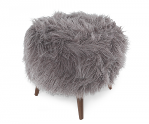 Cube Ottoman light grey