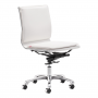 Ryder armless White office chair silo 1