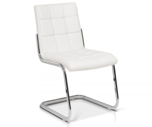 Stephen Dining Side Chair White 65811 Silo