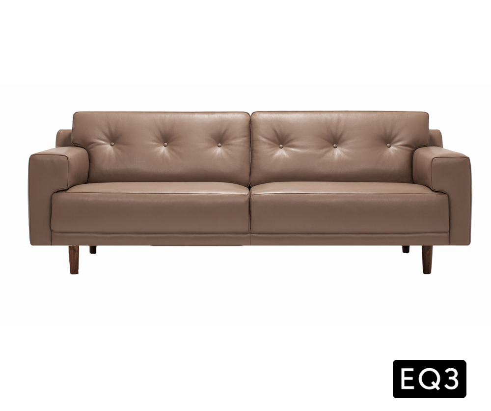 eq3 leather sofa eq3 oskar 93 sofa leather thesofa