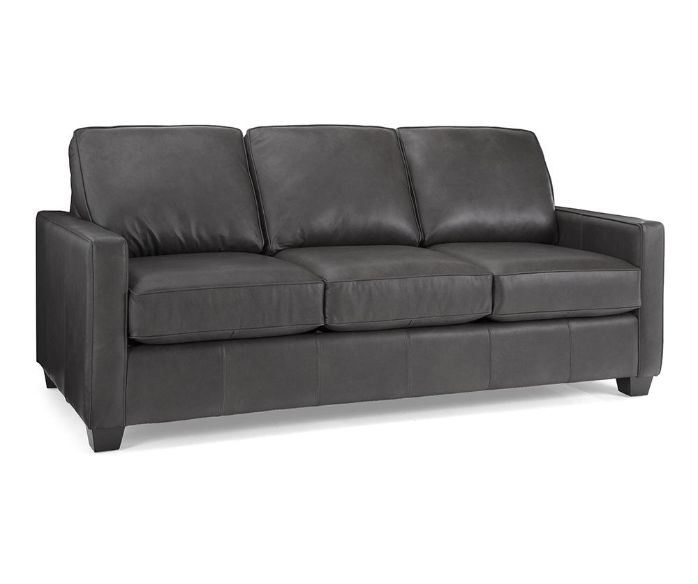 Robertson double leather sofa bed decorium furniture for Double leather sofa