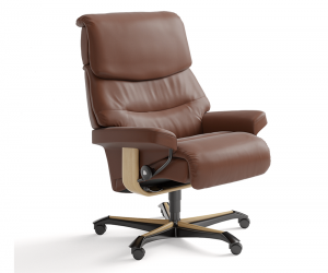 Capri Office Brown Cov Natural Base Silo