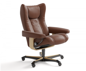 Wing Office Chair Nat Base Silo