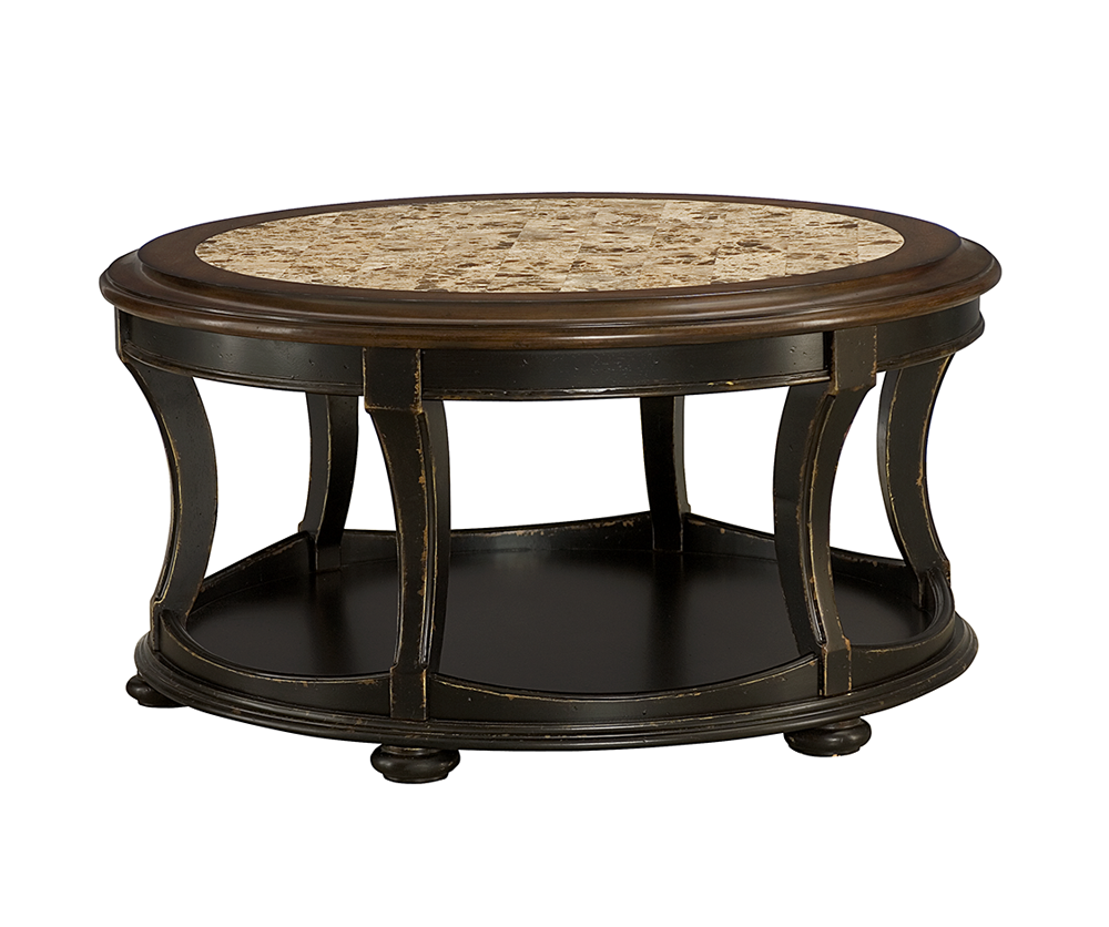 Reynolds round cocktail table decorium furniture for Cocktail tables round